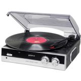 Groov-e Vintage Vinyl Record Player with Built-in Speakers - Black GV-TT01-BK